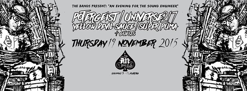 19.11.2015 – Potergeist / Universe217 / Yellow Devil Sauce / Super Puma / Dream Long Dead
