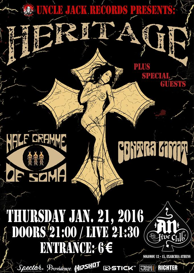 21.01.2016 – Heritage / Special Guests: Half Gramme Of Soma & Contra Limit